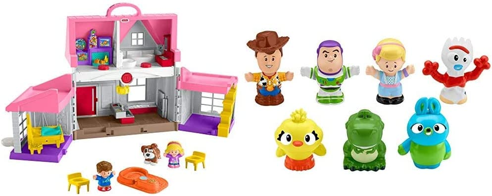 Fisher-Price Little People Big Helpers Home & Disney Toy Story 4, 7 Friends Pack by Little People