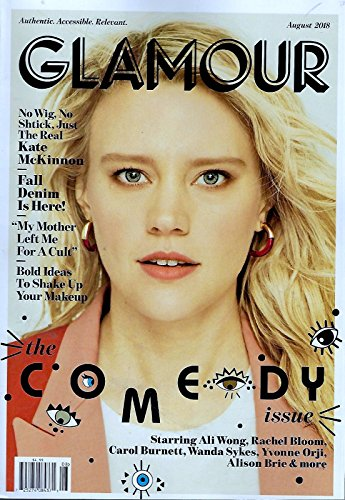 Glamour Magazine (August, 2018) The Comedy Issue Kate McKinnon Cover