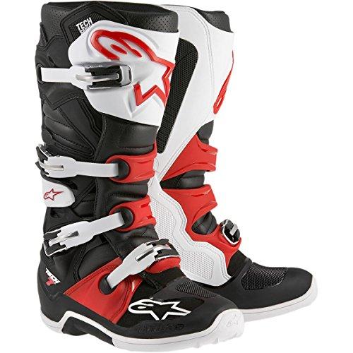 Alpinestars Tech 7 Boots , Primary Color: Black, Size: 13, Distinct Name: Black/Red/Yellow, Gender: Mens/Unisex 201201413613 by Alpinestars Negro/Blanco/Rojo