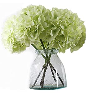 Artificial Hydrangea Flowers, Meiwo 2 Pcs Fake Hydrangea Silk Flowers for Your Wedding Scene Arrangement and Home Party Decor 1
