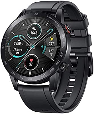 HONOR Smartwatch Magic Watch 2 (46 mm) Fitness Tracker Watch Hombre Mujer Smart Watch, 5 ATM Smart Watch Muñeca Monitor de Ritmo cardíaco Presión Smartband, GPS Llamada por Bluetooth, Negro Mate: Amazon.es: Electrónica