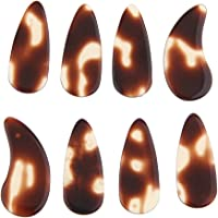 Flameer 8Pcs Flat Guzheng Finger Picks Nails for Chinese Zither Instrument Accessory - Small