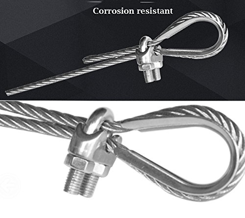 Accessbuy M6 1 4 Inch 304 Stainless Steel Wire Rope Cable