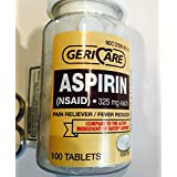 Bottled Aspirin 100/bottle (2PK)