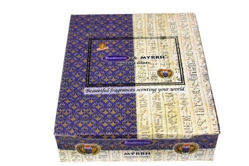 - Frankincense & Myrrh Cones - Kamini Incense - Case Pack of Twelve Boxes