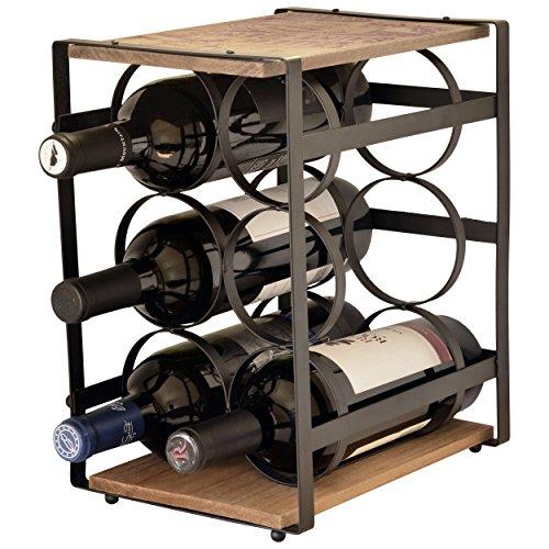 Wood Top Wine Rack - 9