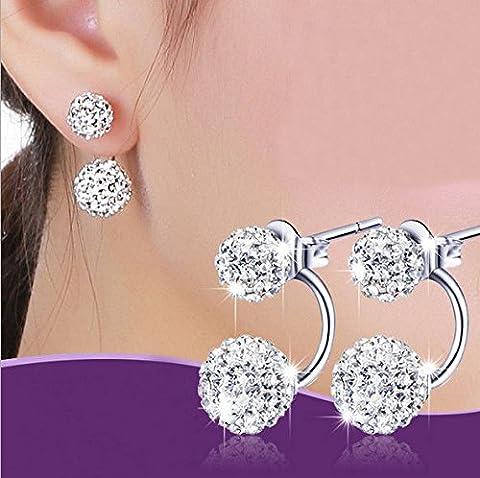 LuckyNine9 Jewelry Women Lady Elegant pearl Rhinestone Ear Stud Earrings (Alice In Chains Button)
