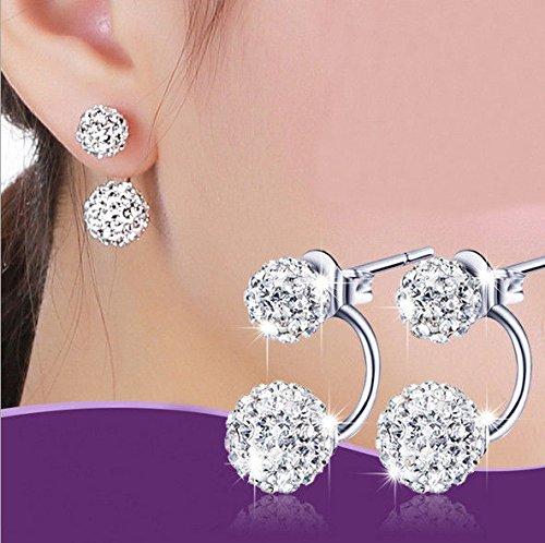 LuckyNine9 Jewelry Women Lady Elegant pearl Rhinestone Ear Stud - Brands Armani Different