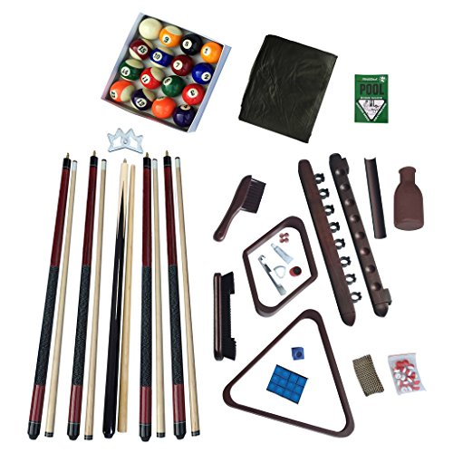 Hathaway Deluxe Billiards Accessory Kit, Mahogany Finish