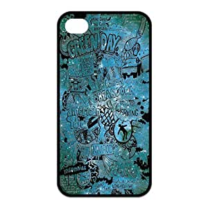 Fashion Green Day Hard Rubber Gel Silicone Case Cover for iPhone 4 / 4S