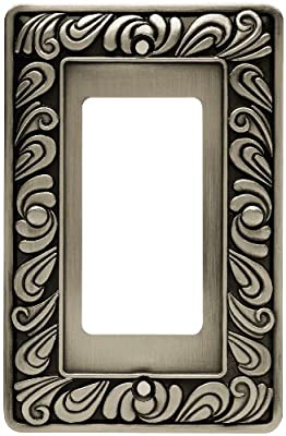 Brainerd 64046 Paisley Single Decorator Wall Plate / Switch Plate / Cover