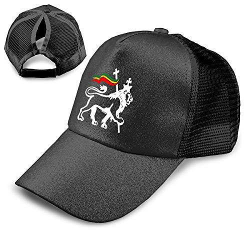 EElason99 Charles Lion of Judah Rasta Reggae Roots Beanie Athletic Trucker Hat Mesh Baseball Cap