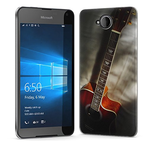 Musik 005, Gitarre, Das Kristallklare Ultradünn Gel Crystal Silikon Handyhülle Schutzhülle Handyschale mit Strukturierte Design für NOKIA LUMIA 650