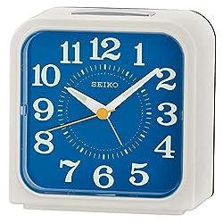 Seiko Bell Alarm Clock with Snooze & Light - White