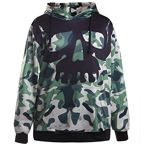 Price comparison product image Thenice Neutral Long Sleeve Hoodies Sweatshirts (ArmyGreen)