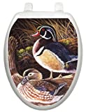 Toilet Tattoos, Toilet Seat  Cover Decal, Wood Ducks,  Size Elongated
