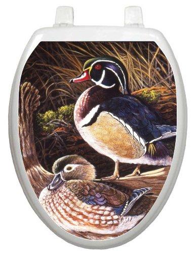 Toilet Tattoos TT-1067-O Wood Ducks, Elongated