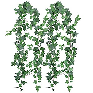 XiaZ Artificial Ivy Leaves Succulent Flowers Plants, Assorted Fake Succulents with Flocked Green Stems, Pearls, Cactus Faux Plant for Floral Arrangements, Home Indoor Wall Garden DIY Decorations 21