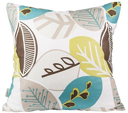 """BLUETTEK Leaf Decorative Pillow Covers 18"""" X 18"""""""