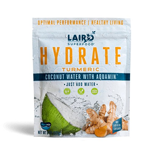 Laird Superfood Coconut Water Powder HYDRATE TURMERIC | All-Natural | No Added Sugars | Gluten Free | Vegan - 8 oz