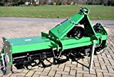 Rotary Tiller TL-135 Width 53'' Offsetable with PTO Shaft 3 Pt Cat 1 Linkage for Tractors with 22-35 HP and Cat 1 - 3 Pt Hitch