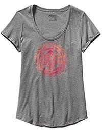 Patagonia Sun Rose Cotton Scoop T-Shirt Womens Gravel Heather Large