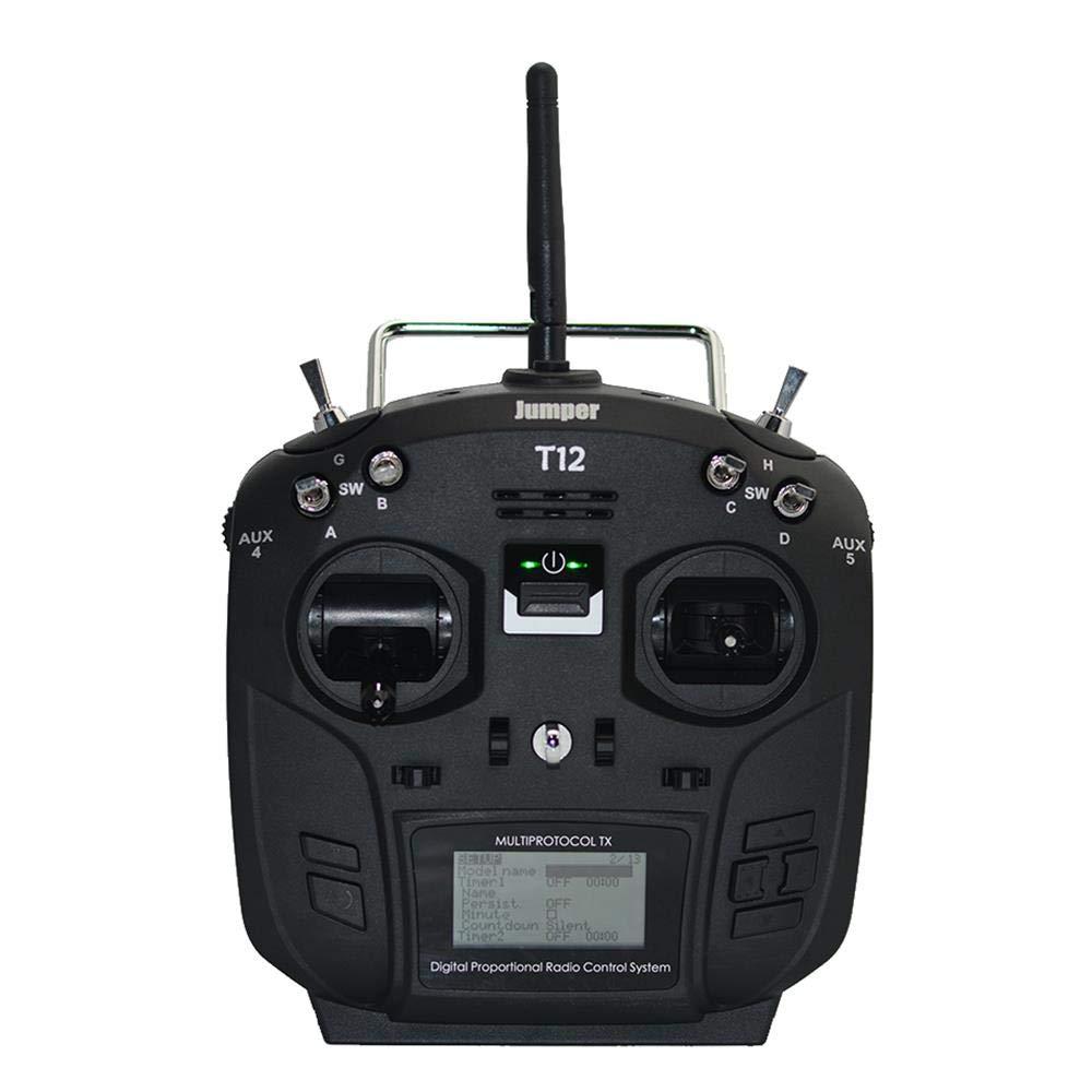 ACHICOO ドローン コントローラー 無線送信機 Jumper T12 Plus JP4-in-1 RFモジュール付き マルチプロトコル ホールセンサー ジンバル ブラック 左手 B07LCMKQT9 左手