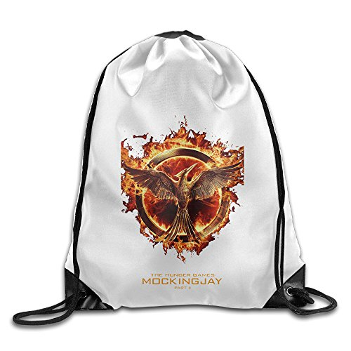 Hunger Games Dance Costumes (Bekey The Hunger Games Mockingjay1 Drawstring Backpack Sport Bag For Men & Women For Home Travel Storage Use Gym Traveling Shopping Sport Yoga Running)