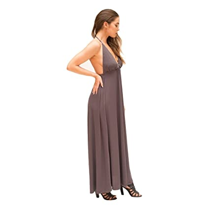 JOSA Tulum Womens Houston Maxi Dress One Size Gray at Amazon Womens Clothing store: