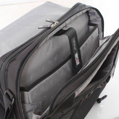 Titan negro del ordenador portátil de 17 pulgadas bolsa Mensajero de Gino Ferrari