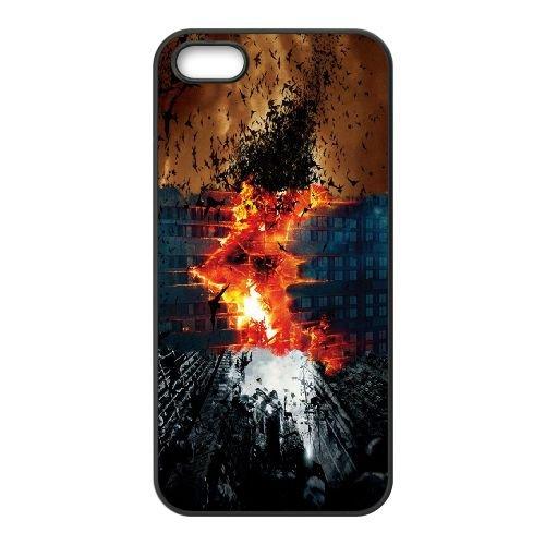 Batman Dark Knight Trilogy coque iPhone 5 5S cellulaire cas coque de téléphone cas téléphone cellulaire noir couvercle EOKXLLNCD22027