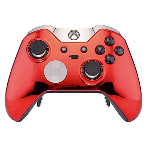 Cheap eXtremeRate Custom Chrome Red Replacement Front Shell for Xbox One Elite Controller