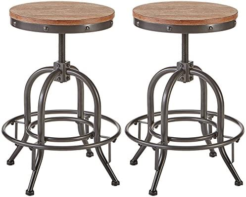 Fine Ashley Furniture Signature Design Pinnadel Swivel Bar Stool Counter Height Set Of 2 Light Brown Ibusinesslaw Wood Chair Design Ideas Ibusinesslaworg