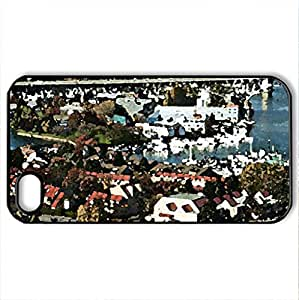 Vancouver scenes 03 - Case Cover for iPhone 4 and 4s (Skyscrapers Series, Watercolor style, Black)