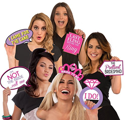 Party Props Online (Bachelorette Party Photo Booth Set of 13- Two Sided Props by Express Novelties Online)