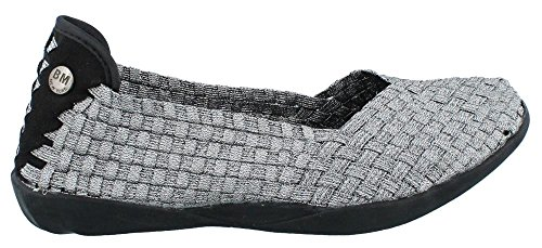 Bernie Mev Women's Braided Catwalk Flat, Pewter, 40 M EU / 9.5-10 B(M) US