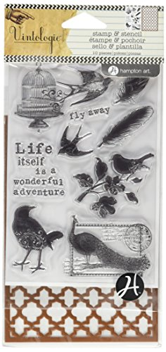 Hampton Art Stamp and Stencil Set, Birds by Hampton Art