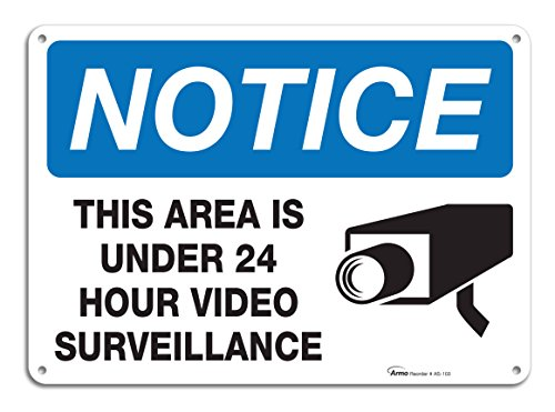 Surveillance Warning Aluminum Indoor Outdoor product image