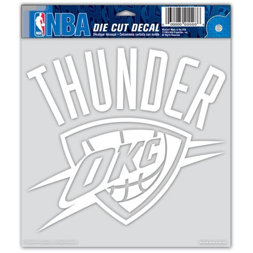 NBA Oklahoma City Thunder Die-cut Decal, 8