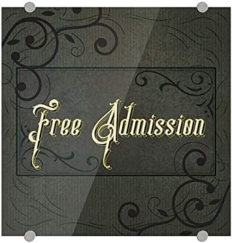 5-Pack CGSignLab Victorian Frame Premium Acrylic Sign Free Admission 16x16
