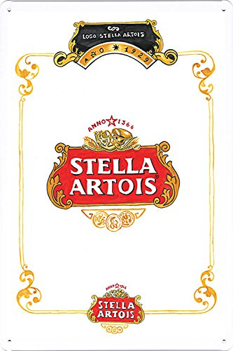 tin-sign-metal-poster-plate-8x12-of-stella-artois-beer-anno-1366-by-food-beverage-decor-sign