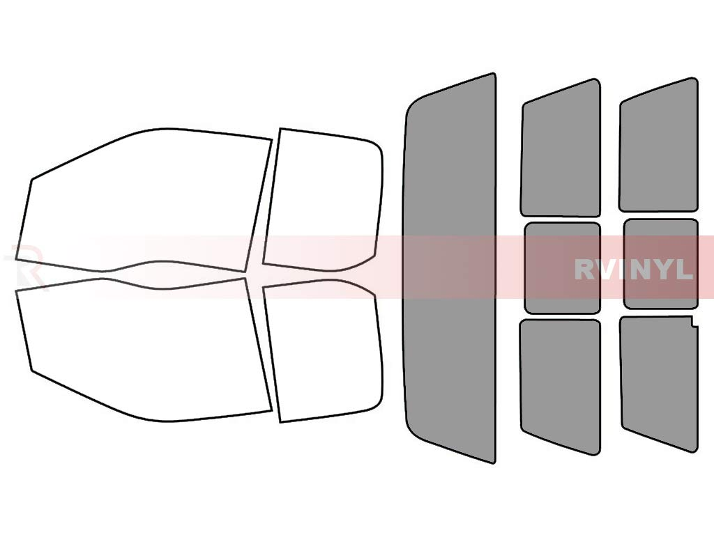 20/% 2 Door Rtint Window Tint Kit for Ford F-350 2017-2018 - Front Kit