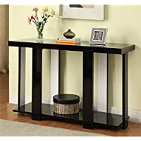 Furniture of America Haven Console Table in Black