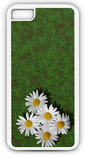 iPhone 8 Plus 8+ Case Pushing Up Daisies Daisy Flower White Petals Customizable by TYD Designs in White Rubber ()