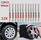 Dealetech 10+2 Universal Waterproof Permanent Paint Marker Pen Car Tyre Tire Tread Rubber …(12pcs)