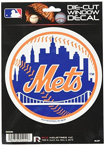 Rico MLB Mets New York Medium Die Cut Decal, 9
