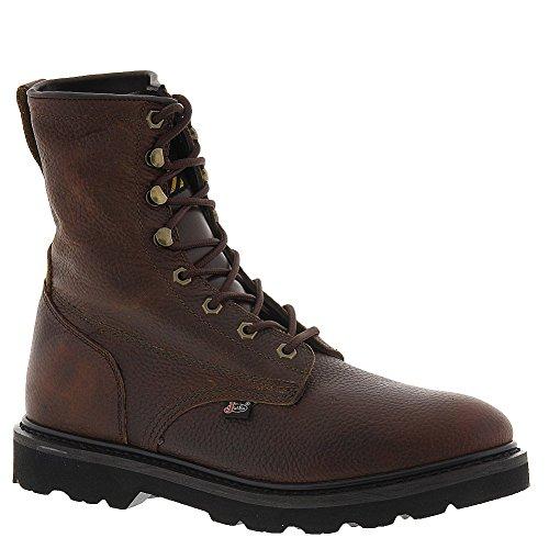 "Justin Men's Premium 8"" Lace-Up Work Boot Steel Toe Tan 12 D(M) US"