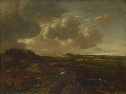 Polyster Canvas ,the Beautiful Art Decorative Prints On Canvas Of Oil Painting 'Willem Buytewech The Younger A Dune Landscape ', 16 X 22 Inch / 41 X 55 Cm Is Best For Kitchen Decoration And Home Decor And Gifts - Open Design Dove Pendant
