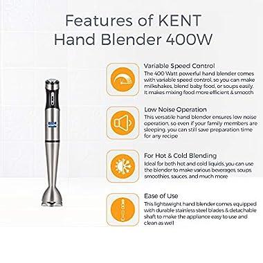 Kent Hand Blender SS-16044, 400 W, Silver 7