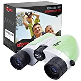 B3xtra Binoculars for Kids 8x21 Kids Binoculars Outdoor Set, High Resolution Telescope for Kids, Shockproof Child Binoculars with Real Optics for Bird Watching and Camping, Present for Boys, Girls